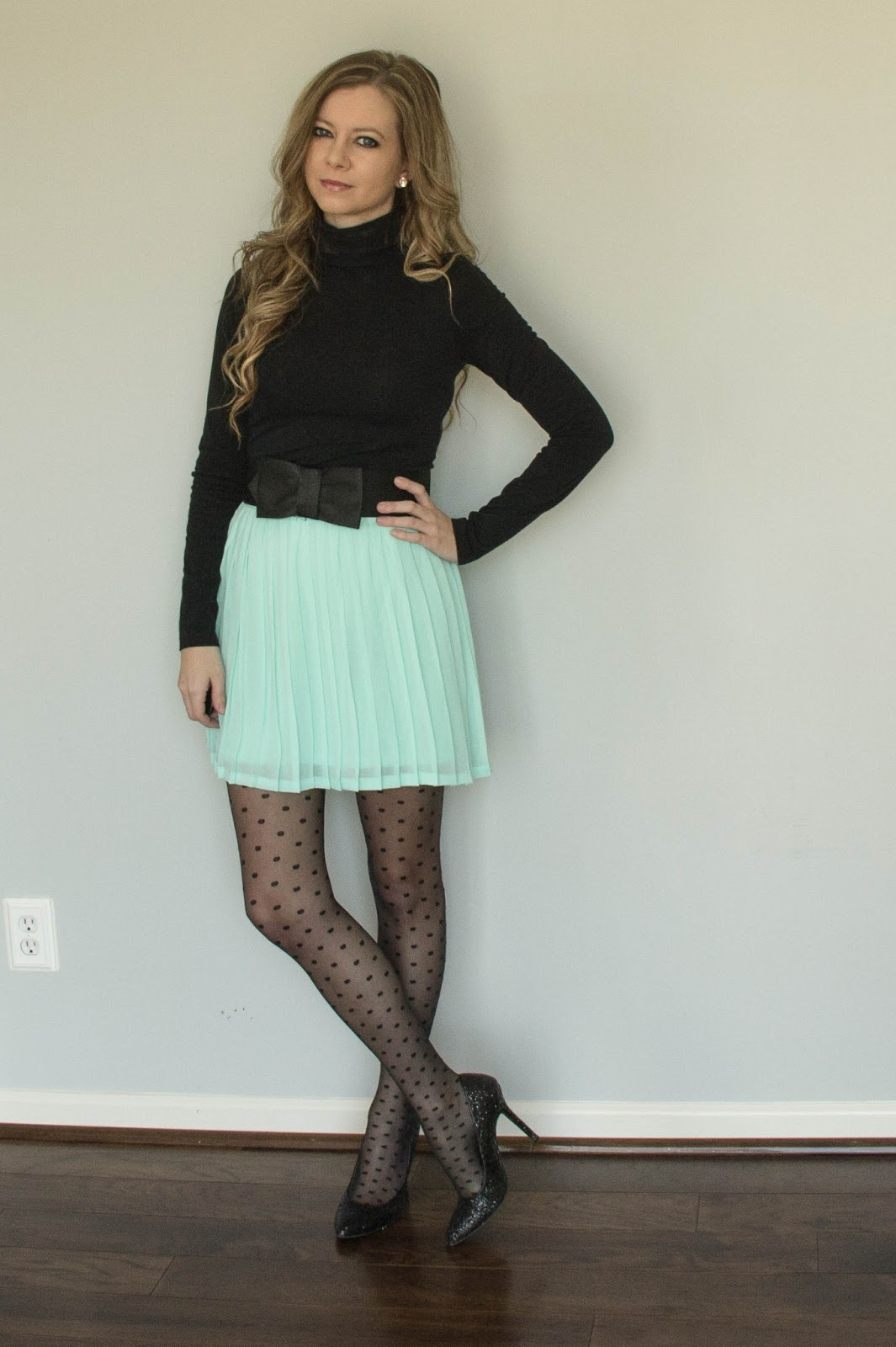 OOTD: Tiffany blue and bows - Modern Camelot Kelly Slater Daughter