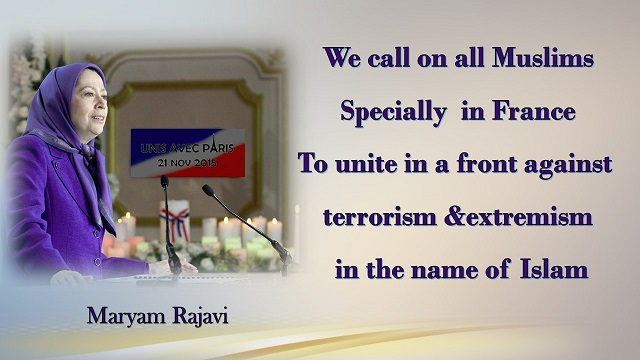 Iran-Paris-MaryamRajavi's speech at the ceremony in solidarity with the people of France Auvers-sur-Oise,21 November 2015