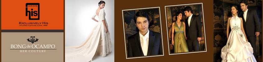 Exclusively His & Her Couture by Bong de Ocampo | Bridal Gowns in Metro Manila