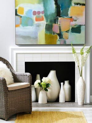 fireplace decorating ideas for the spring and summer seasons