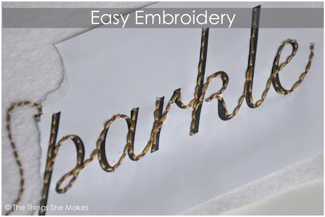 How to embroider handwriting the things she makes