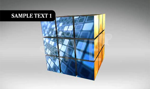 VideoHive The Puzzle Cube Project (CS3)