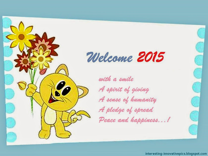 welcome   happy new year  card with greeting quotes, Greeting card
