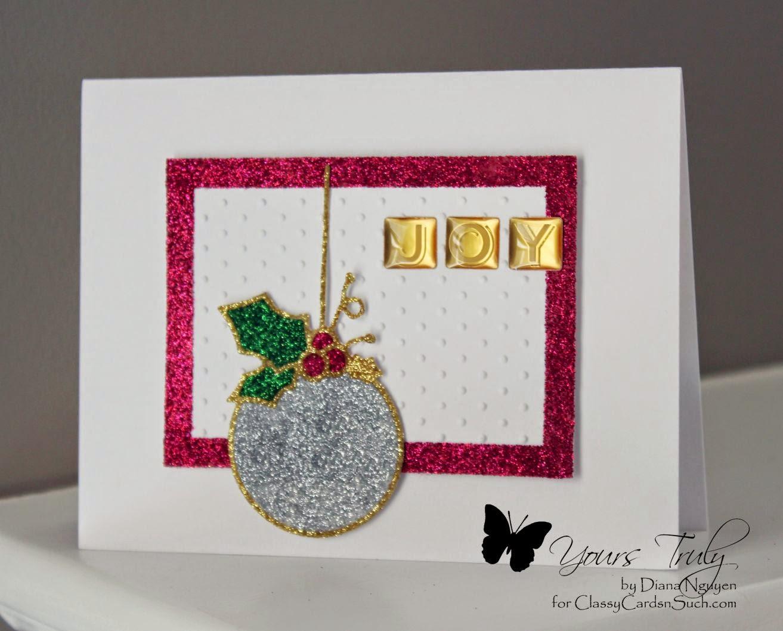 Glitter, Memory Box Cabrini ornament, Christmas, Diana Nguyen