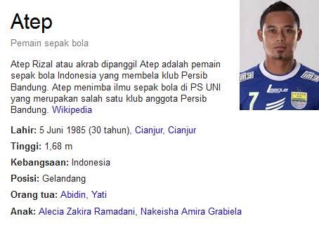 Atep Ahmad Rizal Profil Biografi Pemain Sepak Bola Dunia