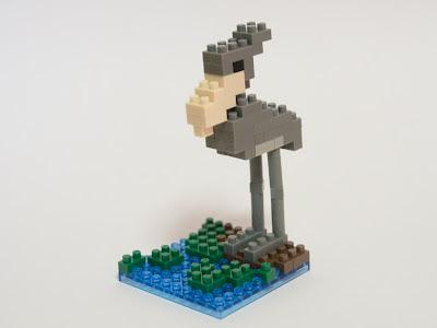 ナノブロックで作ったハシビロコウ