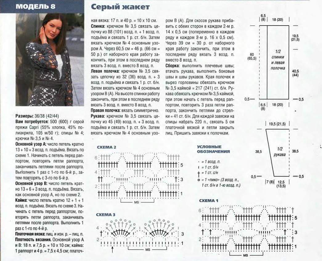 Вязание кардигана для женщин крючком