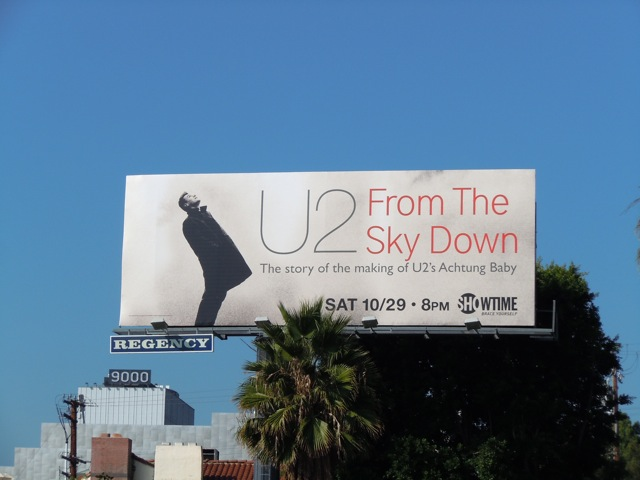 U2 From The Sky Down billboard