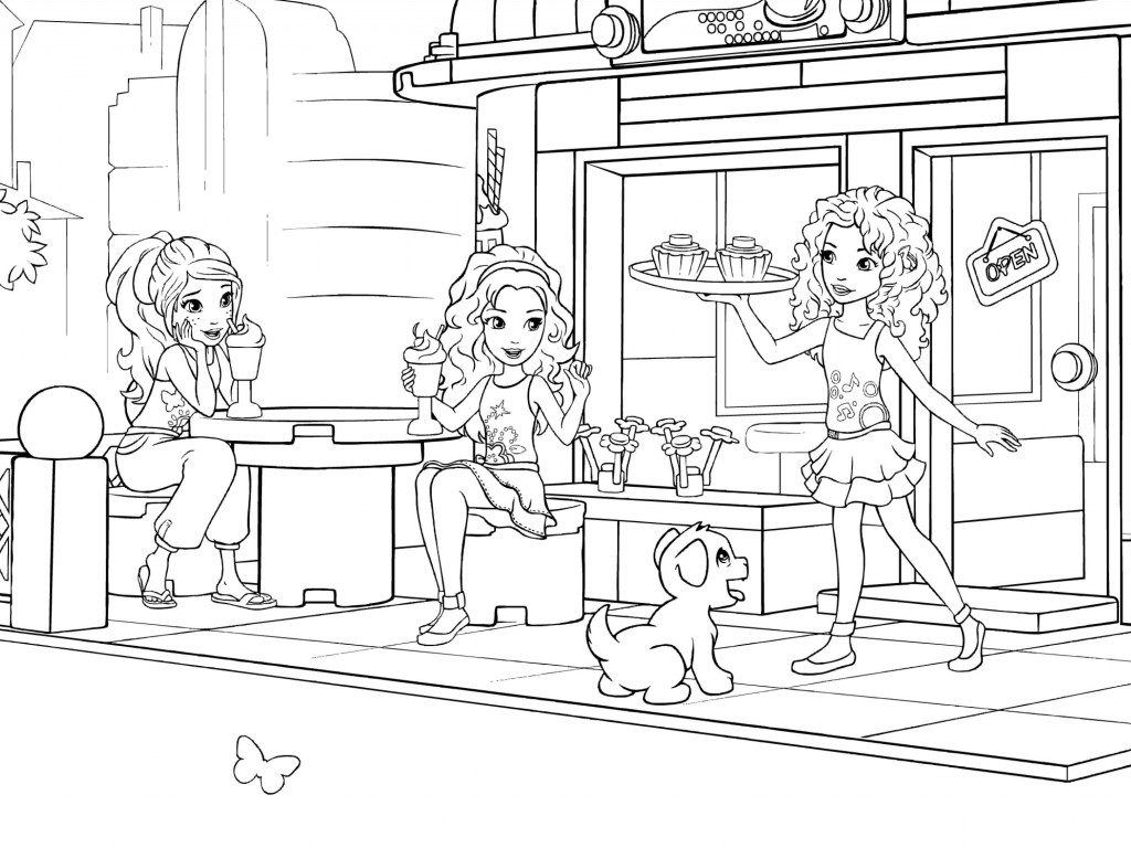 Loving mums friends lego party for Coloring pages of lego friends