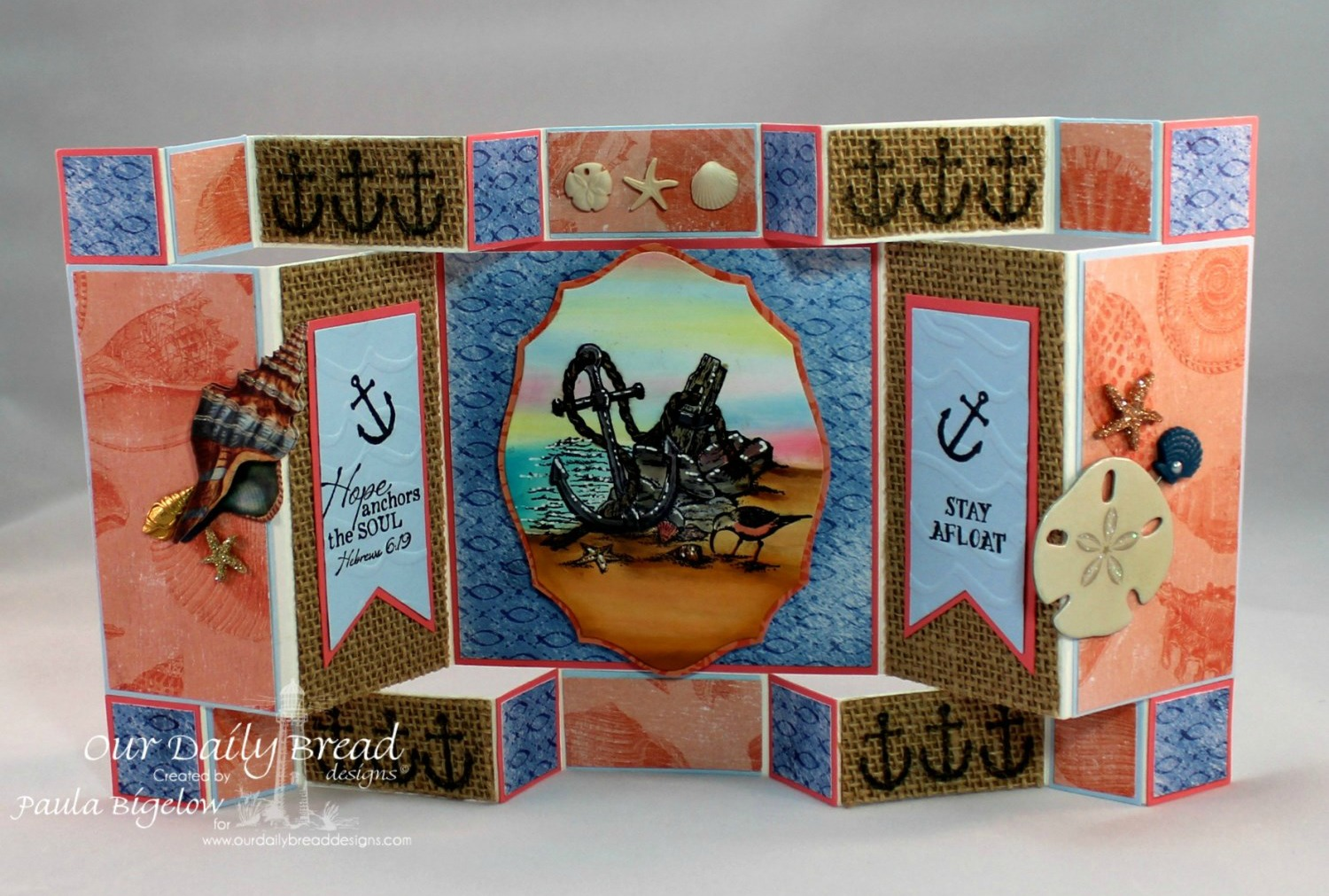 Stamps - Our Daily Bread Designs Anchor the Soul, ODBD Custom Pennants Die, ODBD Custom Elegant Ovals Die, ODBD Christian Faith Paper Collection