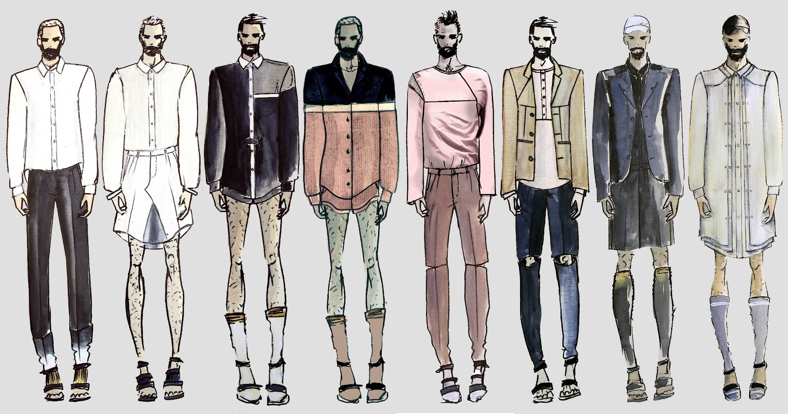 Men fashion illustration - photo#12
