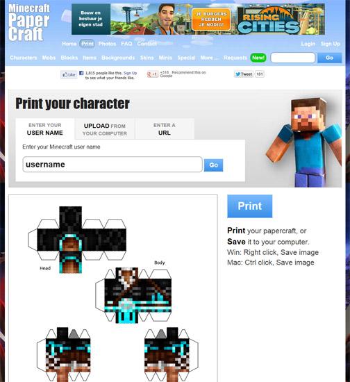 Ninjatoes Papercraft Weblog Customize Print Build