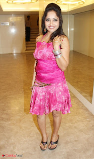 Madhavi Latha Latest Pictures in Pink Short Dress  0001.jpg