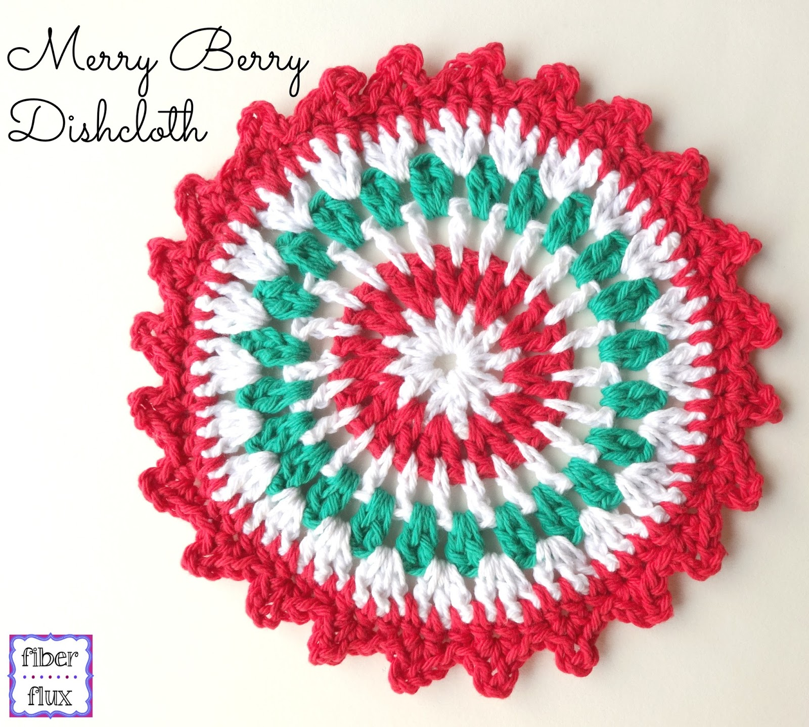 Fiber Flux Free Crochet Patternrry Berry Dishcloth