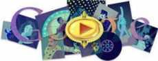 Freddie Mercury doodle logo de Google Queen doodle