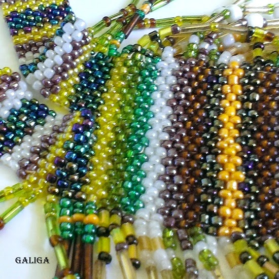 jewelry-ethnic jewelry, Ethnic Necklace, seed bead necklace, гердан,