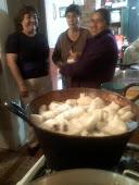 Preparación de dulce de chilacayote y ate
