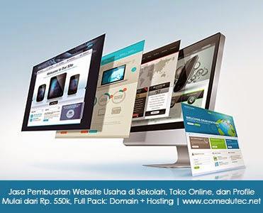Jasa Pembuatan Website Usaha di Sekolah, Toko Online, dan Profile. Mulai dari Rp. 550k, Full Pack: Domain + Hosting | www.comedutec.net