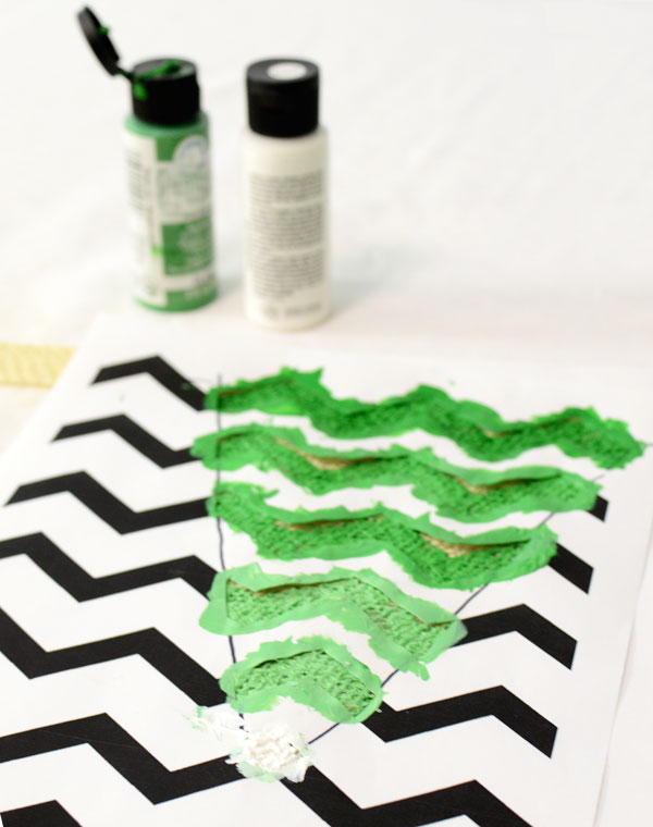 Painting the Chevron Pattern Stencil - Tutorial  by MardiGrasOutlet.com