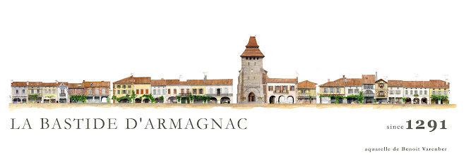 """PLACE ROYALE DE LABASTIDE D'ARMAGNAC: CLIQUEZ SUR L'IMAGE POUR """"LABASTIDE VIVANTE"""""""