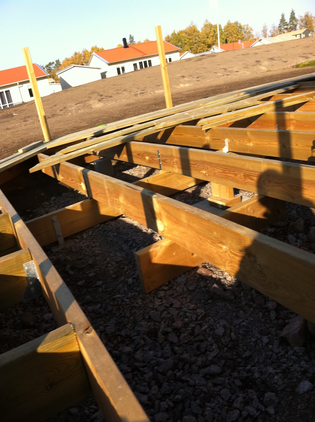 Eksjöhus 1-plans hus Lyckan med vinkel, nybyggnation-: Altanbygge