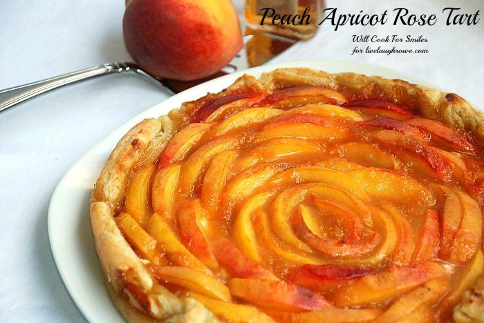 Peach Apricot Cream Tart with LiveLaughRowe.com #dessert #recipe