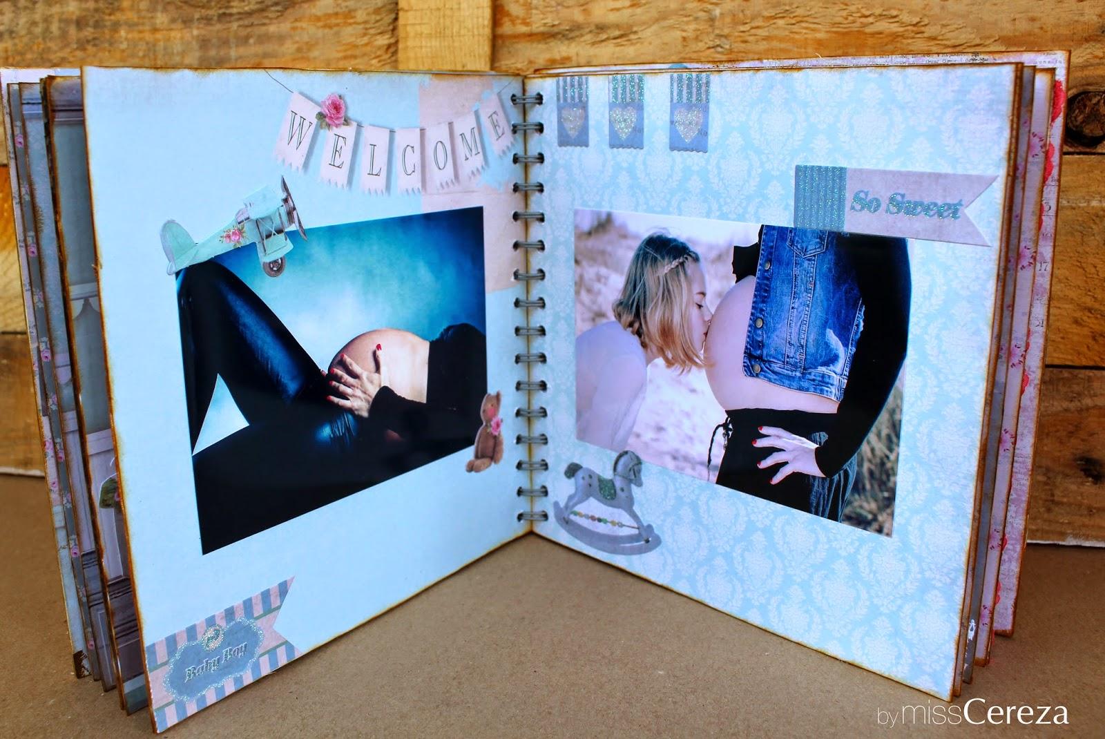 Miss cereza diy album de scrap - Decorar album de fotos por dentro ...