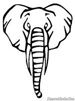 Mewarnai Belalai Gajah