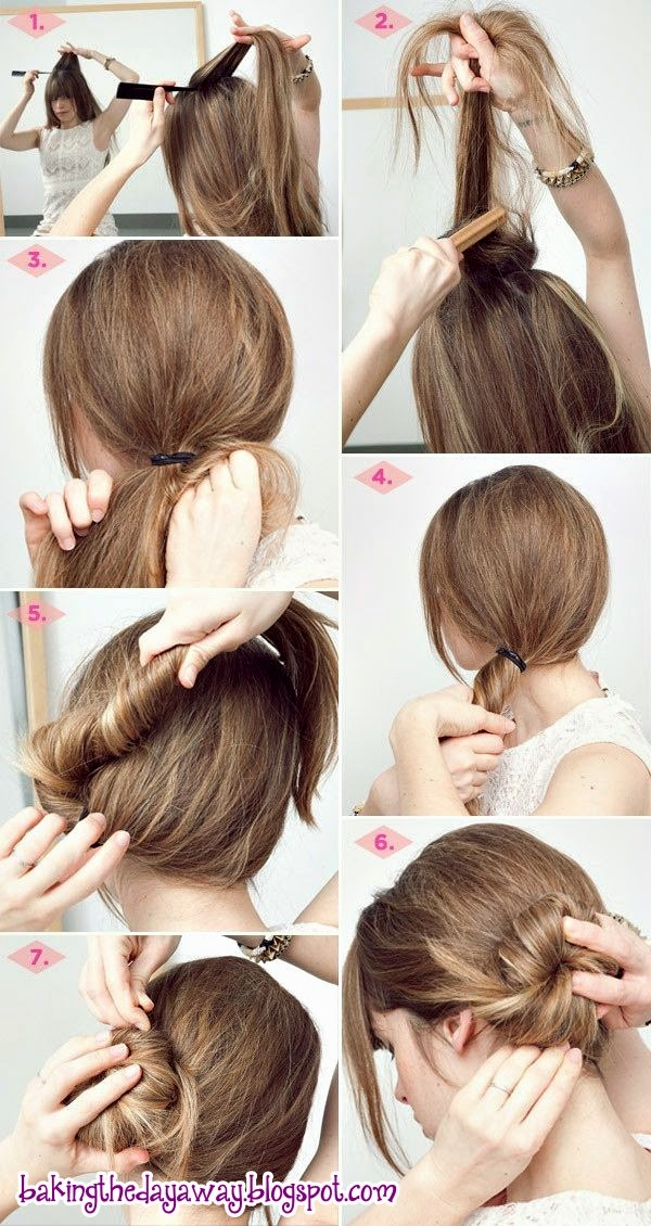 Easy Bun Hairstyles Step by Step
