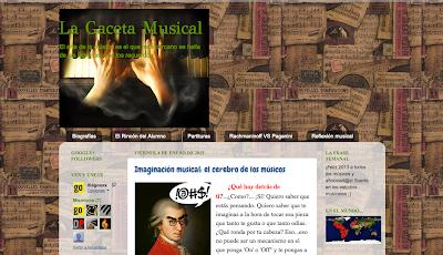 La Gaceta Musical    Blog de músicos para músicos. Una mezcla de las mejores entradas sobre música. Un blog donde aprenderás cosas importantes que para ti no tienen importancia, pero son esenciales. Tu blog de música.
