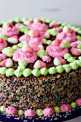 шоколадова торта с лек мус