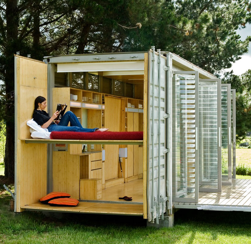 Shipping container homes portable shipping container holiday home new zealand - Cargo container homes ...