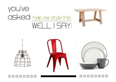 Help me style this: il tavolo in legno naturale