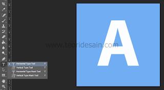 membuat huruf dengan horizontal type tool