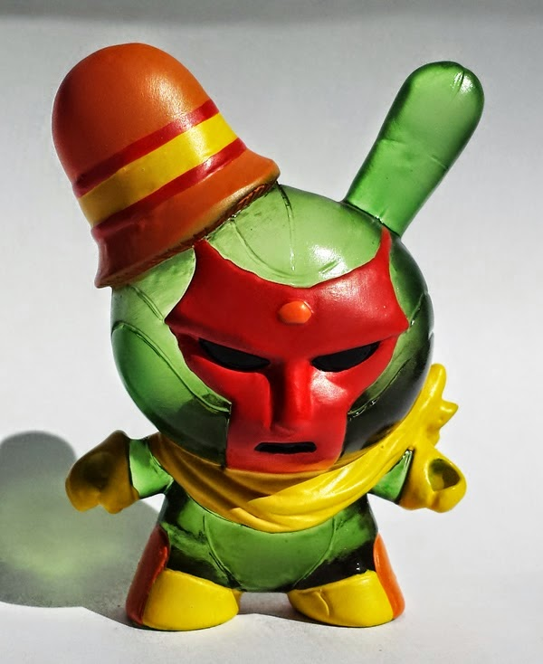 "New York Comic Con 2014 Exclusive ""Red Face"" Vixion Custom Resin Dunny by Erick Scarecrow"