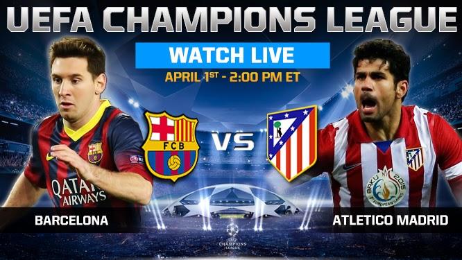Prediksi Skor Barcelona vs Atletico Madrid 02 April 2014 - Liga Champions