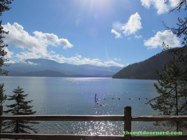 Outlet Campgrounds At Priest Lake, Idaho: Mid Morning View Of Priest Lake