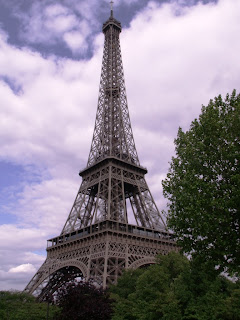 eiffel tower in paris france surrounded by trees