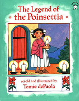 Eloquent image with the legend of the poinsettia printable story