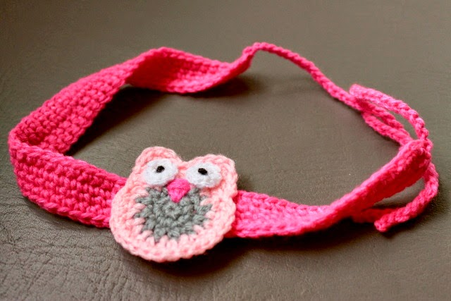 crochet owl headband