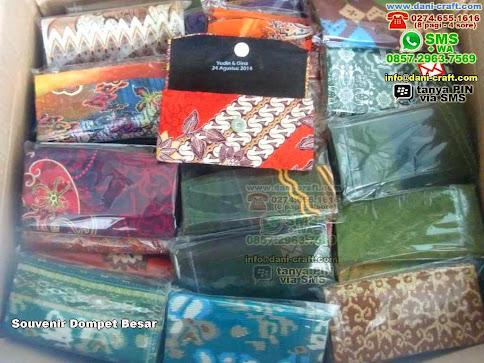 Souvenir Dompet Besar Kain Batik Pontianak