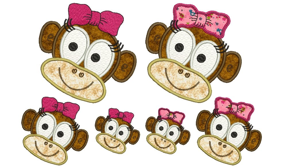 Critters Monkey Machine Embroidery Designs