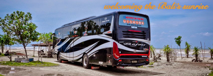 Foto ternaru armada bus bejeu line denpasar scorpion x