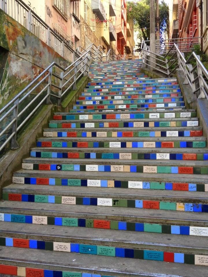 Escadaria urbana em Porto Alegre