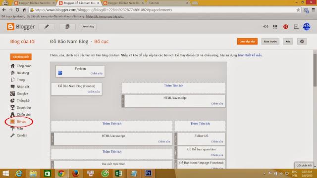 Tùy chỉnh bố cục cho Blogspot