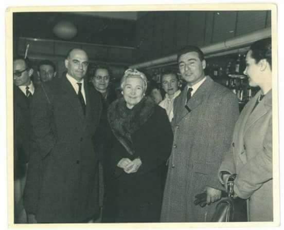 Rachele Mussolini, Vera e Pino Romualdi e Ajmone Finestra.
