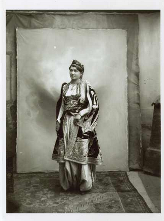 Woman in traditional Albanian clothes