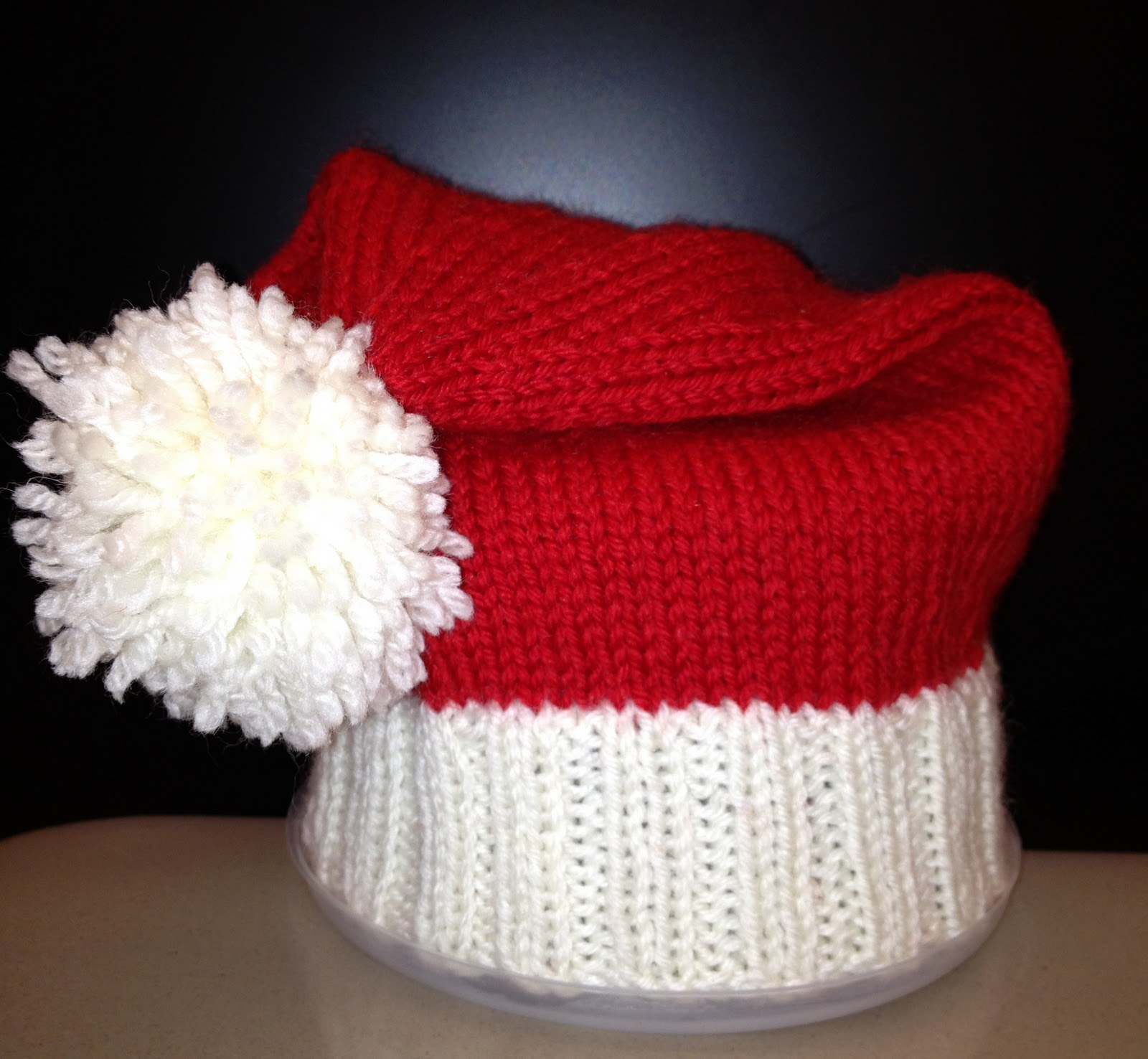 Knit Santa Hat Pattern : ChristinaPurls...: Baby Santa Hat Pattern