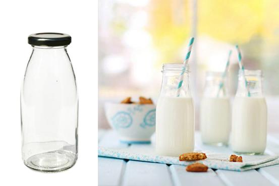 petites bouteilles de lait en verre. Black Bedroom Furniture Sets. Home Design Ideas