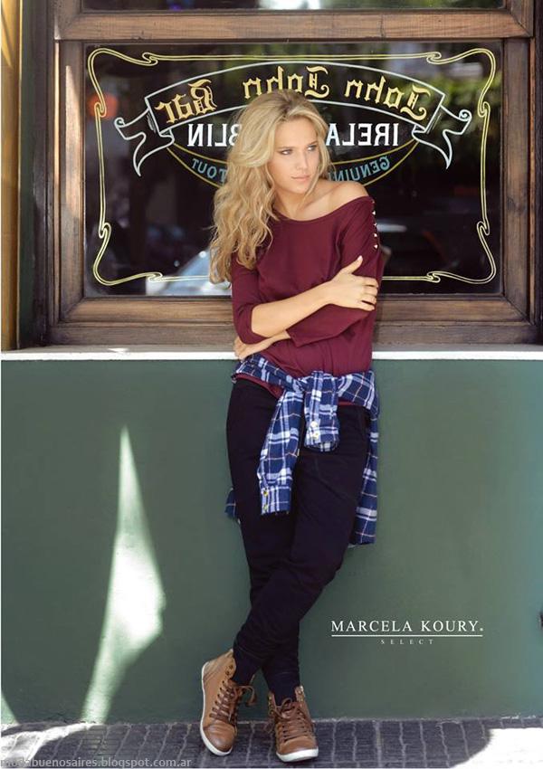 Moda invierno 2014. Marcela Koury Select ropa de moda otoño invierno 2014.